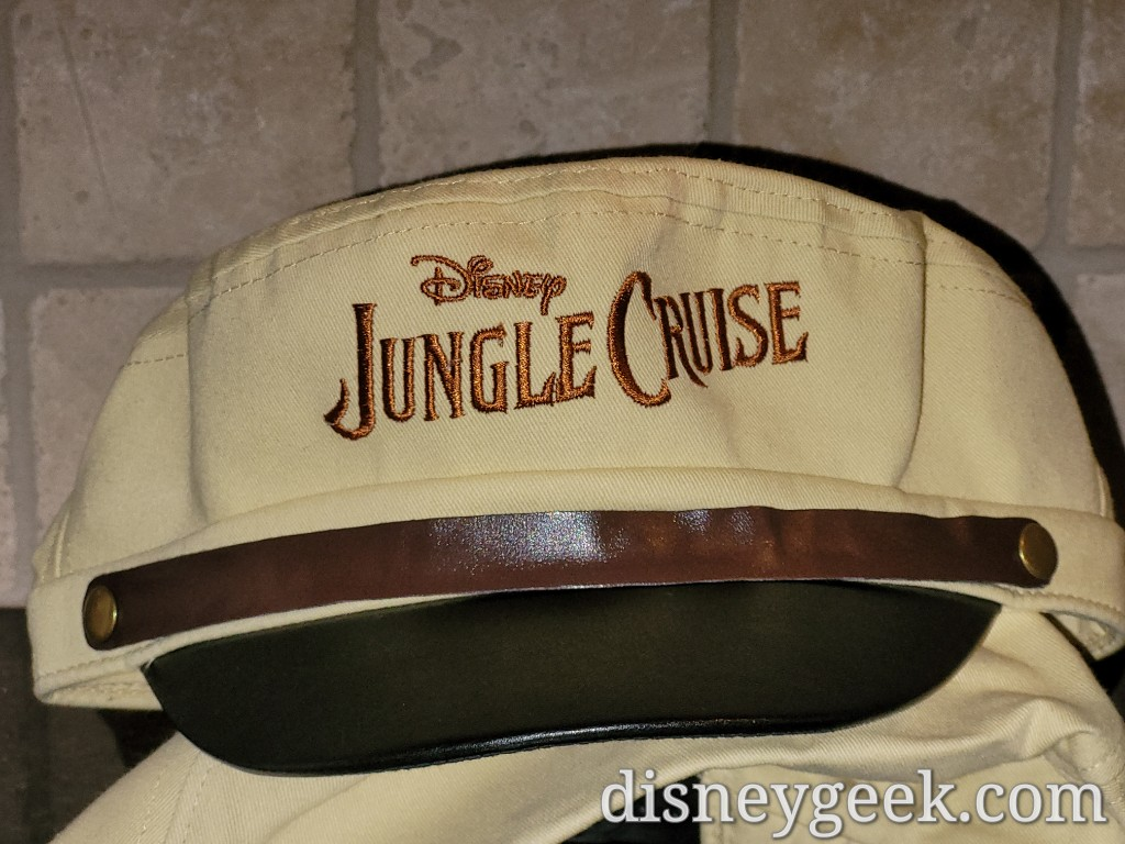 The Jungle Cruise Skipper hat that was given out at the D23 Opening Night Event