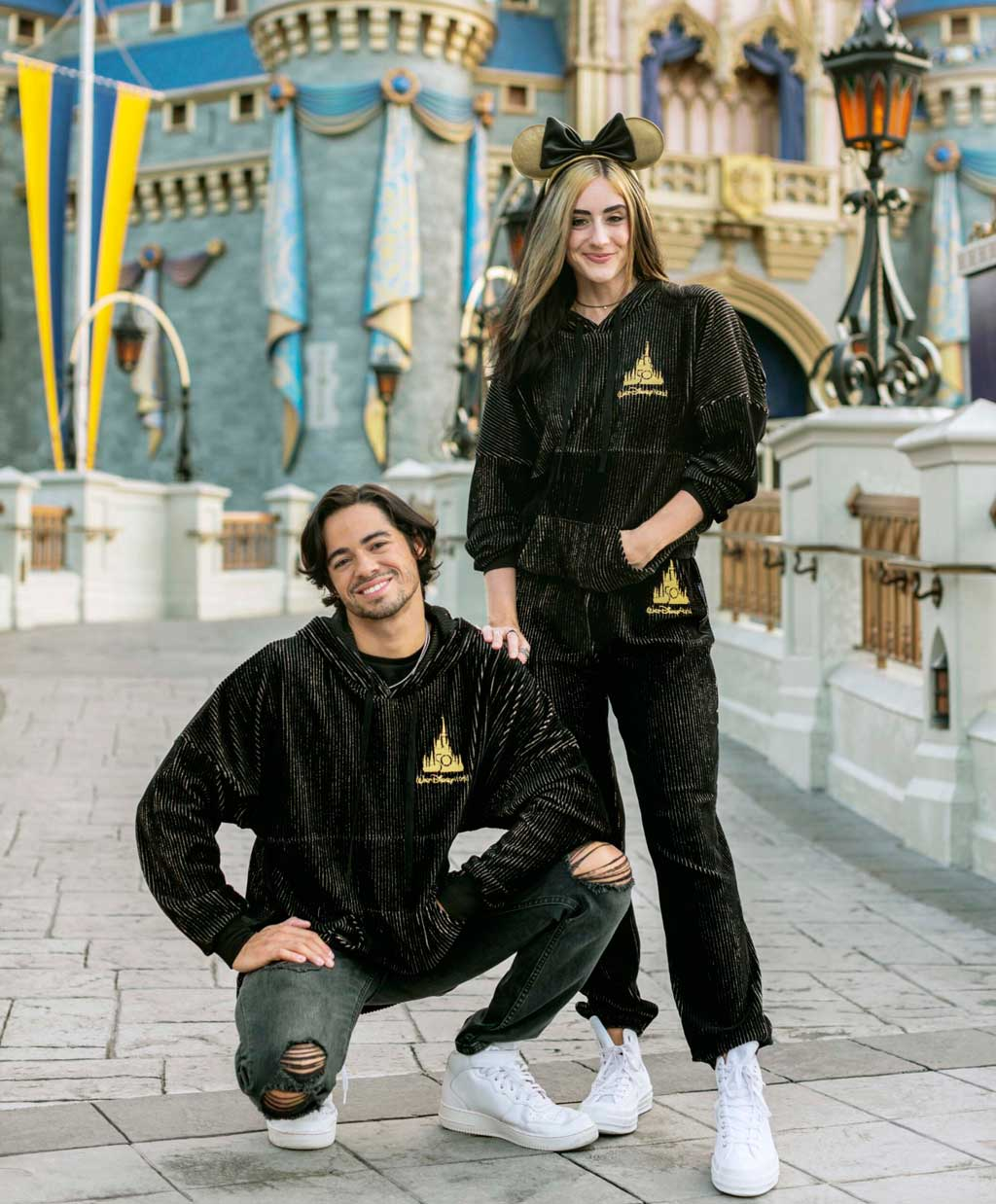 """The Luxe Logo Collection is a new merchandise line that will launch in November 2021 as part of """"The World's Most Magical Celebration,"""" an 18-month extravaganza that begins Oct. 1 at Walt Disney World Resort in Lake Buena Vista, Fla. (Disney)"""