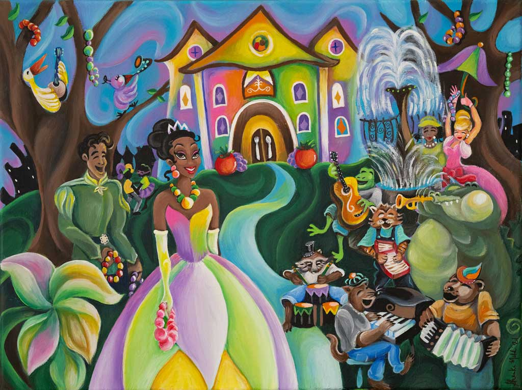 """Inspiration Artwork for New """"The Princess and The Frog"""" Attraction"""