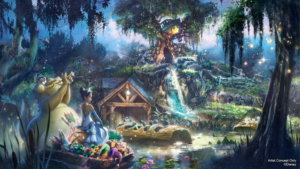 Rendering for Upcoming Attraction Inspired by 'The Princess and The Frog'
