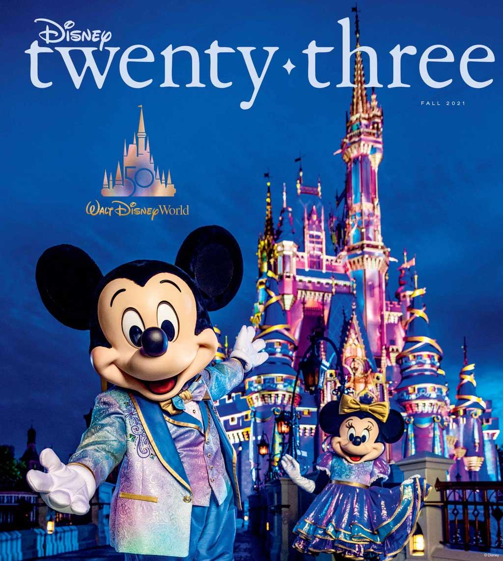 D23 Disney Twenty-Three Fall 2021 Cover