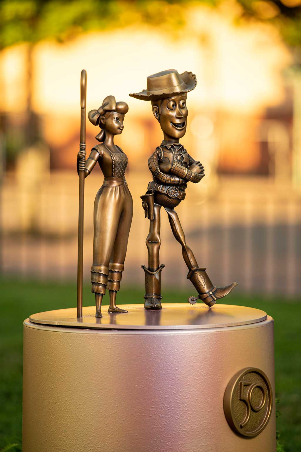 """Bo Peep and Woody at Disney's Hollywood Studios are two of the """"Disney Fab 50 Character Collection"""" appearing in all four Walt Disney World Resort theme parks in Lake Buena Vista, Fla., as part of """"The World's Most Magical Celebration,"""" beginning Oct. 1, 2021, in honor of the resort's 50th anniversary. (David Roark, photographer)"""