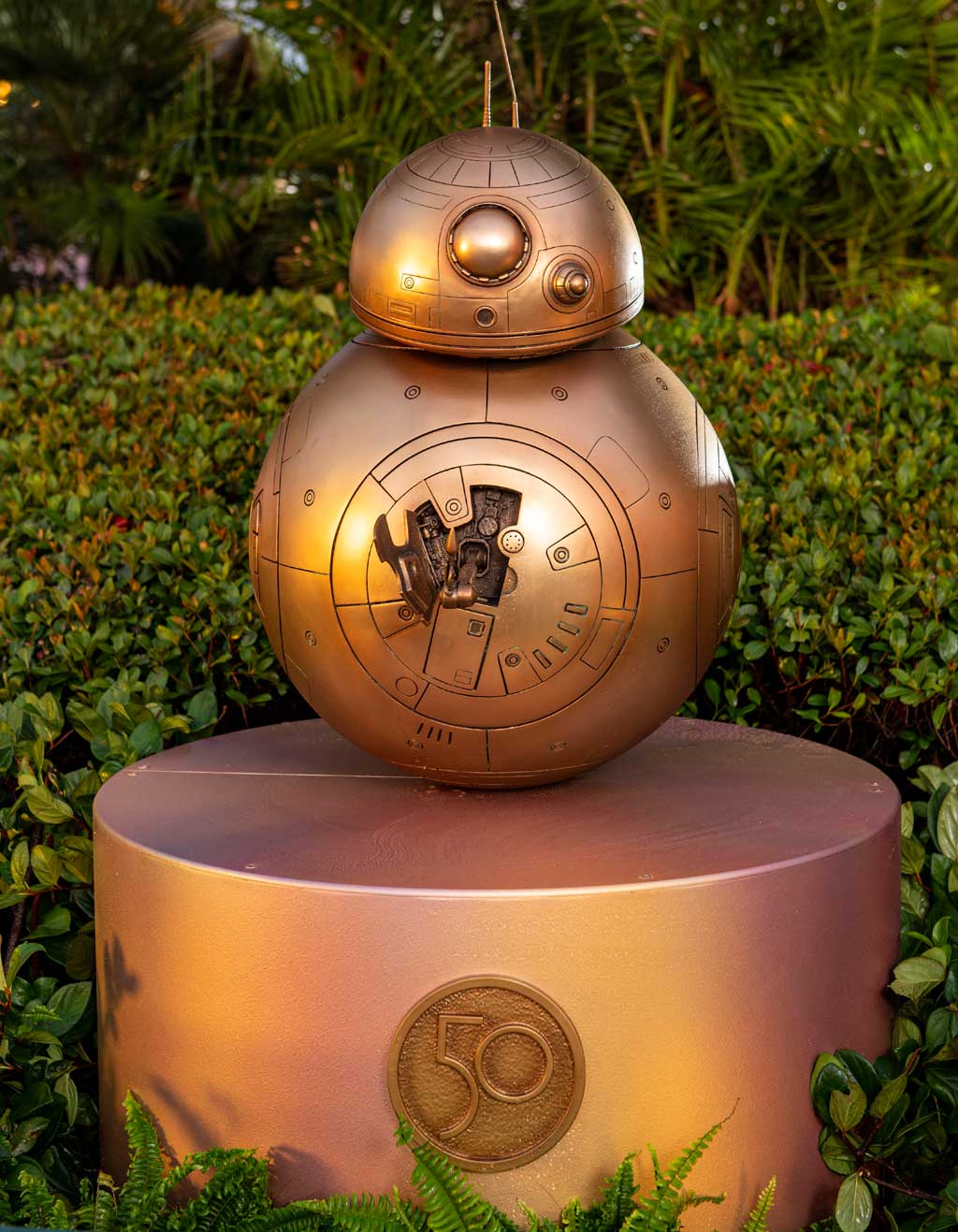 """BB-8 at Disney's Hollywood Studios is one of the """"Disney Fab 50 Character Collection"""" appearing in all four Walt Disney World Resort theme parks in Lake Buena Vista, Fla., as part of """"The World's Most Magical Celebration,"""" beginning Oct. 1, 2021, in honor of the resort's 50th anniversary. (David Roark, photographer)"""