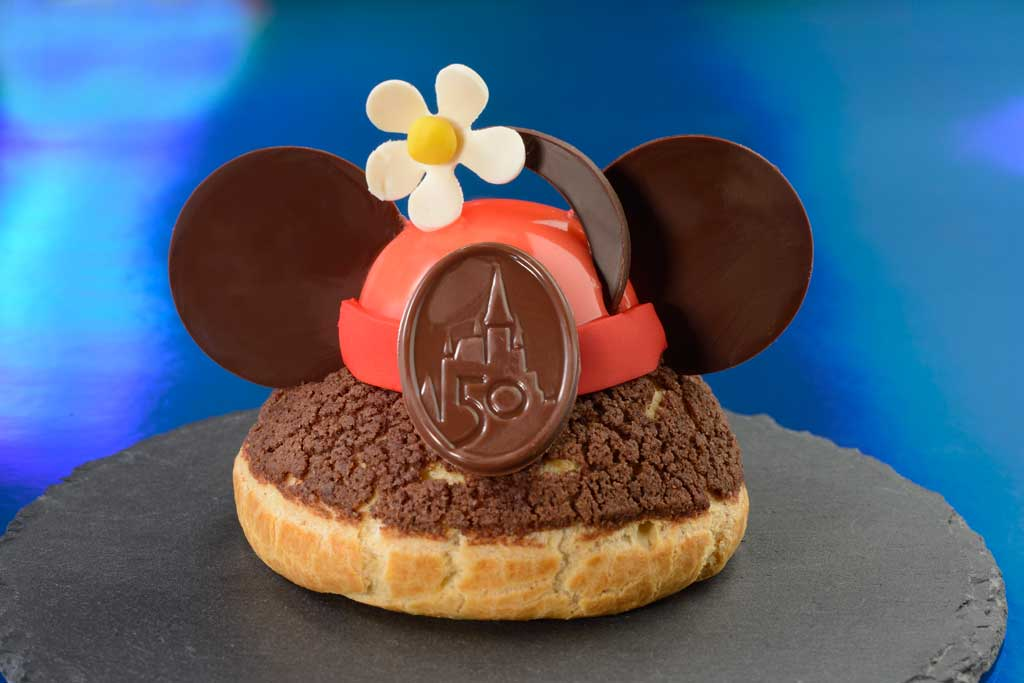 The special food and beverage offerings for the 50th Anniversary of Walt Disney World are full of whimsy and EARidescent shimmer. Many are also inspired by Walt's personal recipes, beloved Disney characters, nostalgic dishes, and Disney attractions past and present, like the 50th Anniversary Vintage Minnie's Brown Betty Profiterole available at Grand Floridian Cafe at Disney's Grand Floridian Resort & Spa at Walt Disney World Resort in Lake Buena Vista, Fla.