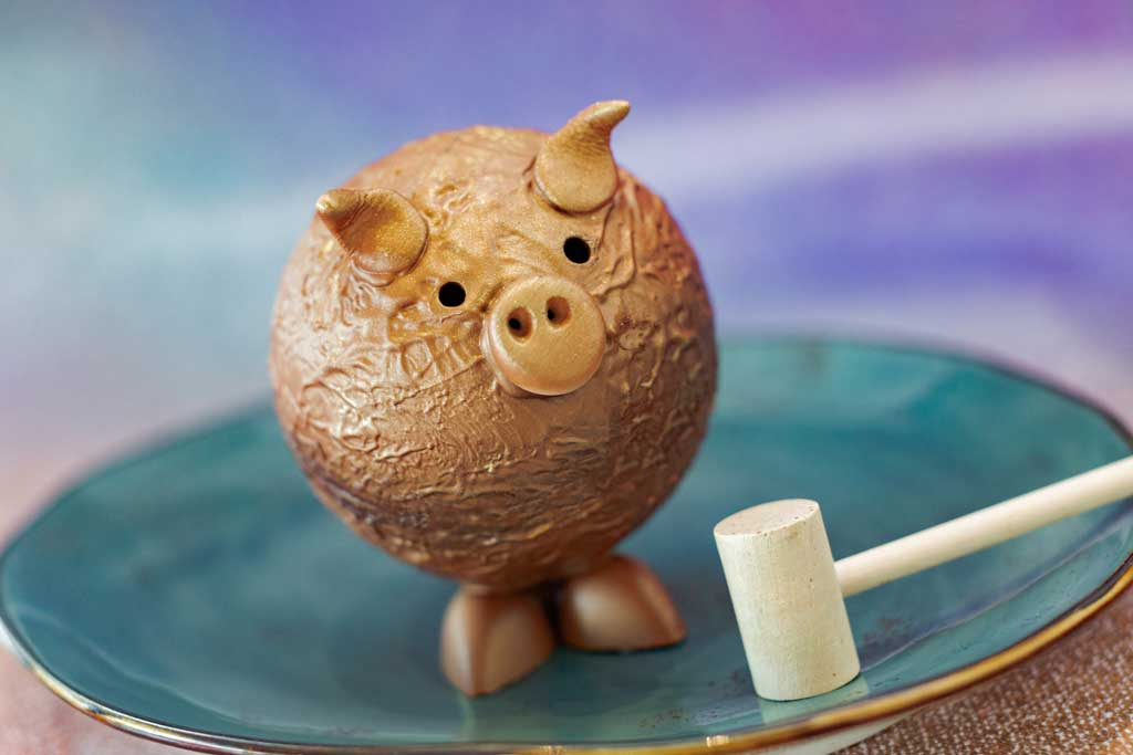 The special food and beverage offerings for the 50th Anniversary of Walt Disney World are full of whimsy and EARidescent shimmer, like the Chocolate Pignata available at Frontera Cocina at Disney Springs at Walt Disney World Resort in Lake Buena Vista, Fla. (Kent Phillips, photographer).