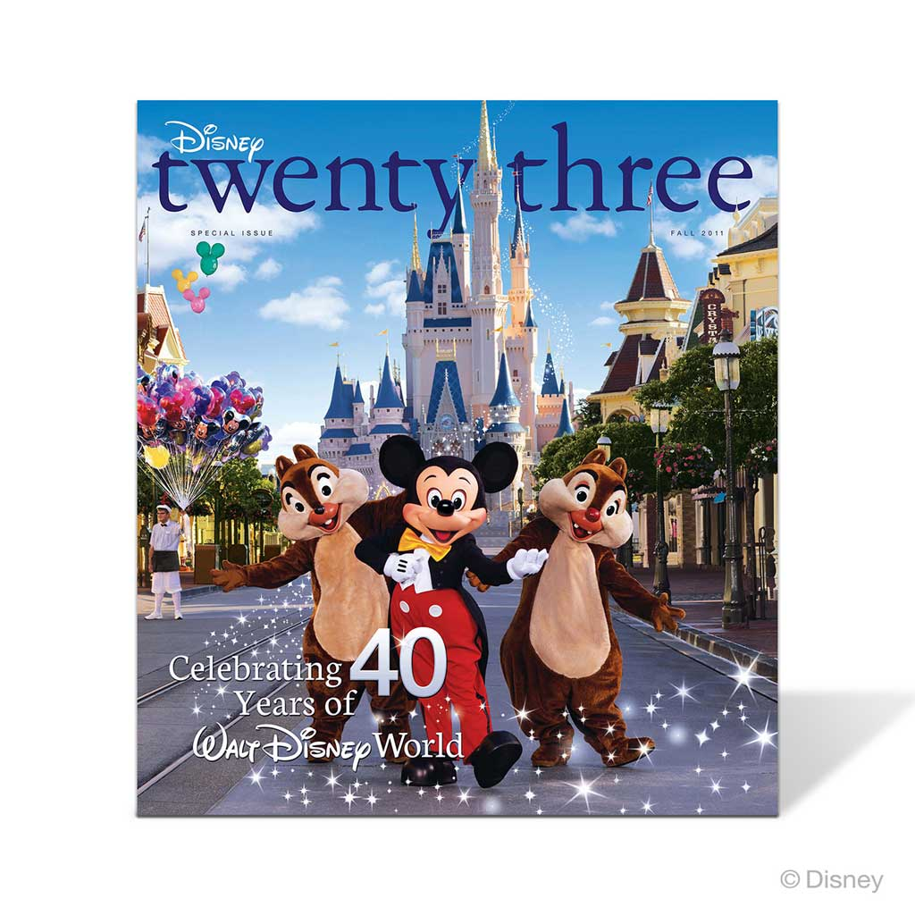 Classic Issues of Disney twenty-three  We have opened up the vaults and are selling classic issues of Disney twenty-three to D23 Gold Members for $19.99. Staring October 1, we will unlock five issues tied to the Disney theme parks in honor of Walt Disney World's 50th, and we plan to bring out more issues in the future. Please note, many of these issues are in very limited quantities and are available only while supplies last.