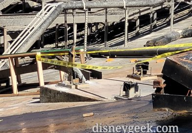 Pictures: World of Color Renovation – Projector Housing Removal